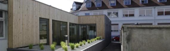 Infiltrométrie d'un bureau rénové à Besançon