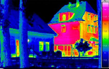 Thermographie permet de d tecter les pertes de chaleur afin d 39 isoler - Perte d energie maison ...